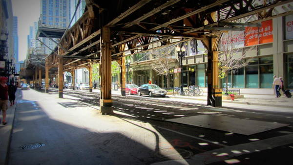 Photograph - Chicago Under The L Track 3  by Anita Burgermeister