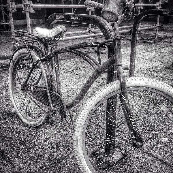 Wall Art - Photograph - Locked Bike In Downtown Chicago by Paul Velgos
