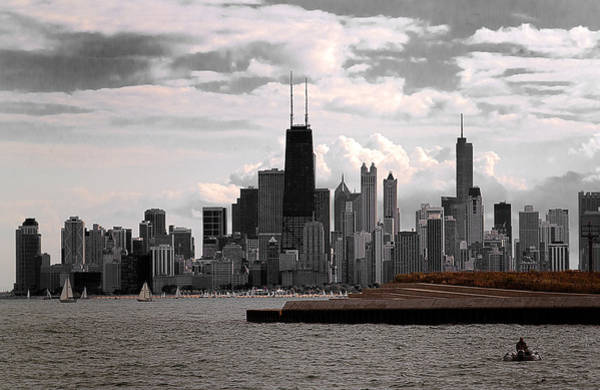 Photograph - Chicago - View From The Lake by Milena Ilieva