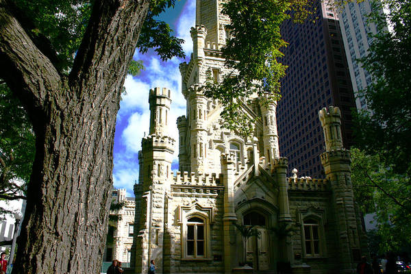 Chicago Water Tower Castle Art Print
