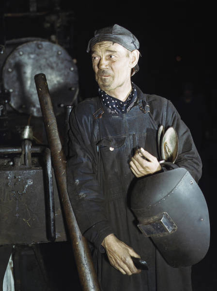 Chicago And North Western Photograph - Chicago Welder, 1942 by Granger