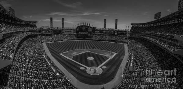 Photograph - Chicago White Sox Pano 1 Bw by David Haskett II