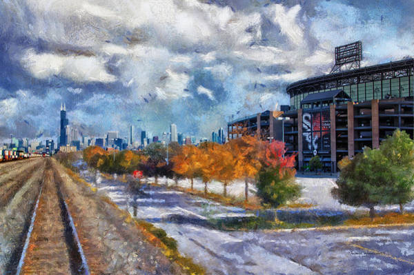 Wall Art - Photograph - Chicago White Sox Us Cellular Field Mixed Media 02 by Thomas Woolworth