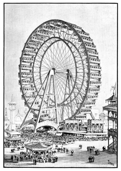 Wall Art - Photograph - Chicago World Fair Ferris Wheel, 1893 by Science Photo Library