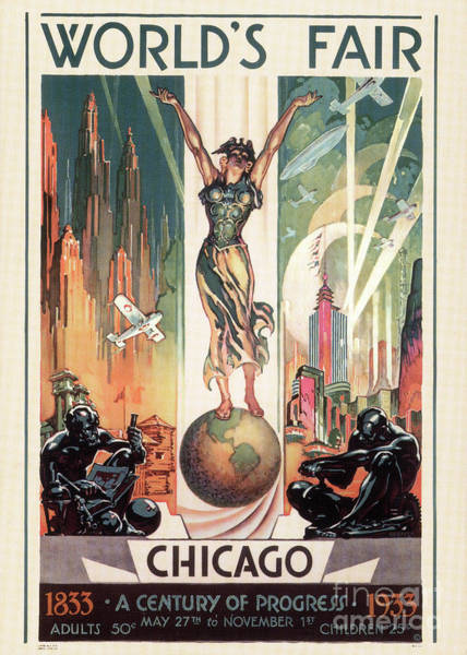 Wall Art - Painting - Chicago World's Fair 1933 by Granger