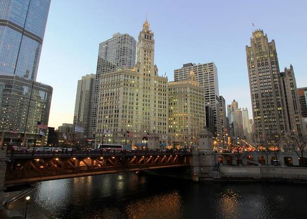 Chicago Tribune Wall Art - Photograph - Chicago Wrigley Building And Tribune by J.castro