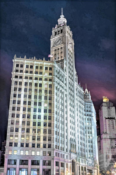 Painting - Chicago Wrigley Building by Christopher Arndt