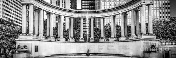 Millenium Photograph - Chicago Wrigley Square Millennium Monument Panorama Photo by Paul Velgos