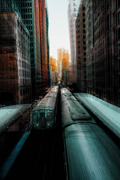 Railroads Photograph - Chicago's Station by Carmine Chiriac?