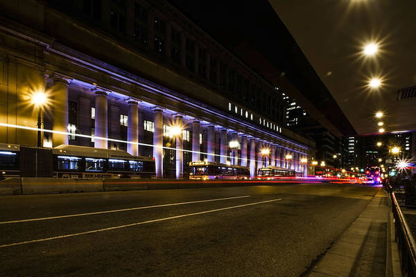 Photograph - Chicago's Union Station At Night by Sven Brogren
