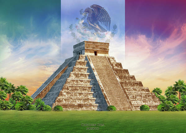 Mayan Wall Art - Painting - Chichen Itza by MGL Meiklejohn Graphics Licensing