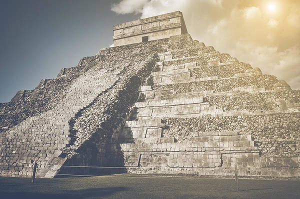 Kukulcan Photograph - Chichen Itza Ruins In Retro Instagram Style Filter by Brandon Bourdages