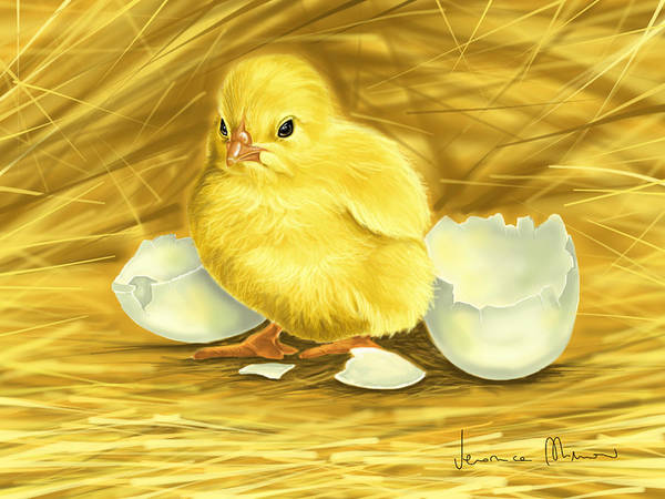 Chick Painting - Chick by Veronica Minozzi