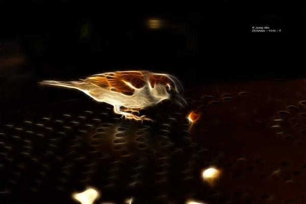 Digital Art - chickadee 9146 F by James Ahn