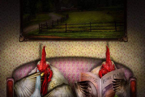 Digital Art - Chicken - Chick Flick by Mike Savad