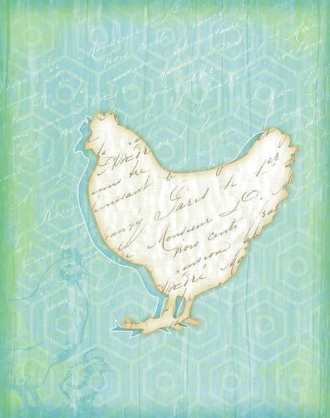 Chickens Wall Art - Painting - Chicken by Jennifer Pugh