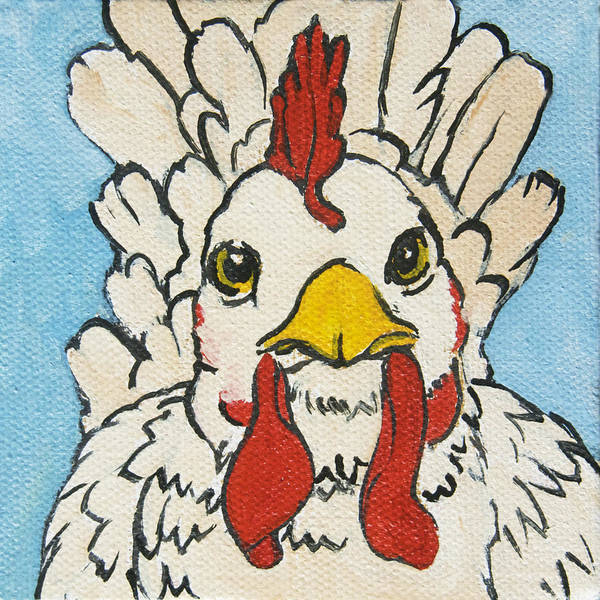 Wall Art - Painting - Chicken Little 4 by Tracie Thompson