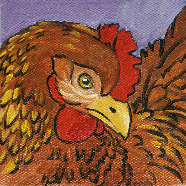Wall Art - Painting - Chicken Little 6 by Tracie Thompson