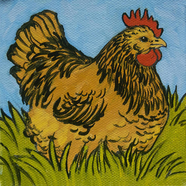 Wall Art - Painting - Chicken Little 7 by Tracie Thompson