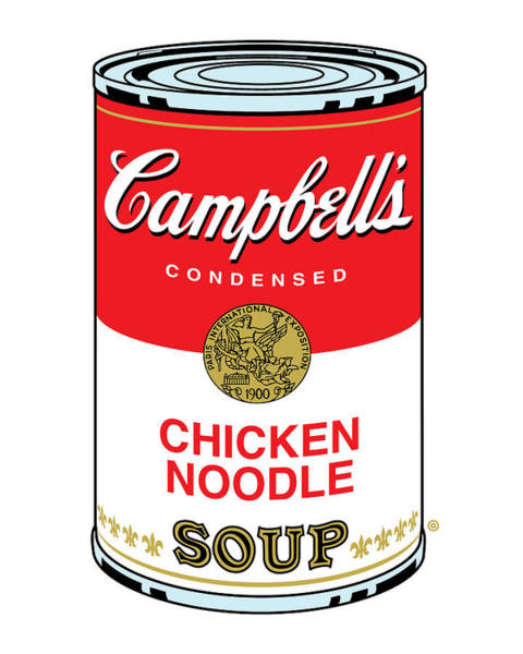 Vector Illustration Painting - Chicken Noodle Soup by Gary Grayson