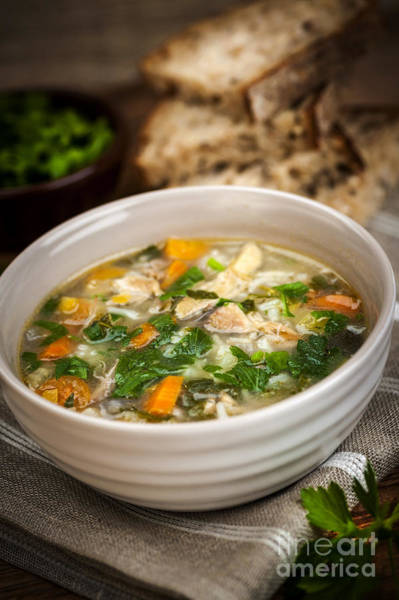 Parsley Photograph - Chicken Soup by Elena Elisseeva