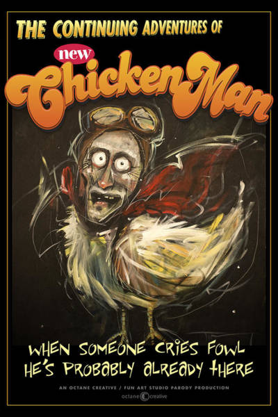 Painting - Chickenman Poster by Tim Nyberg