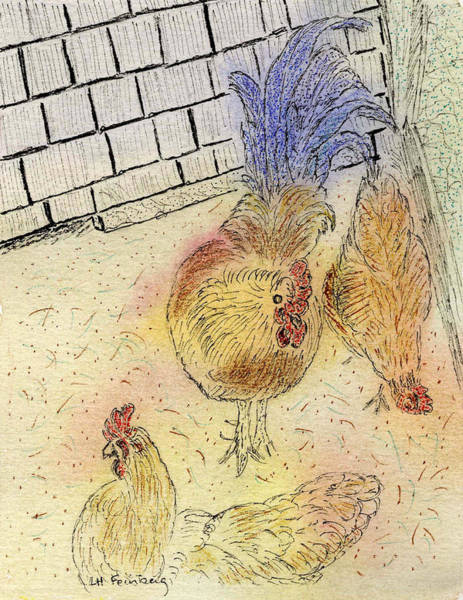 Painting - Chickens At Pei by Linda Feinberg