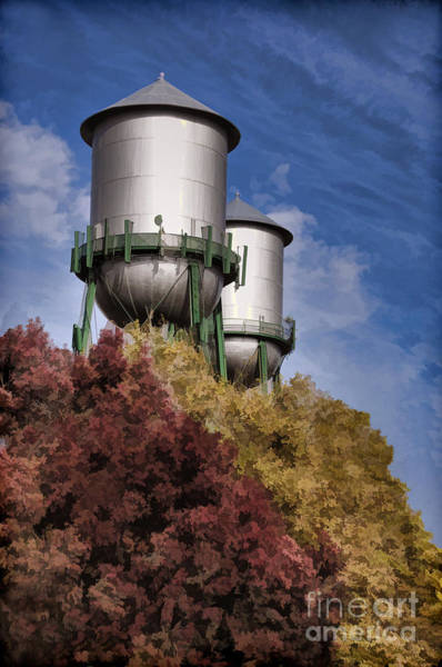 Photograph - Chico Water Towers by Kathleen Gauthier