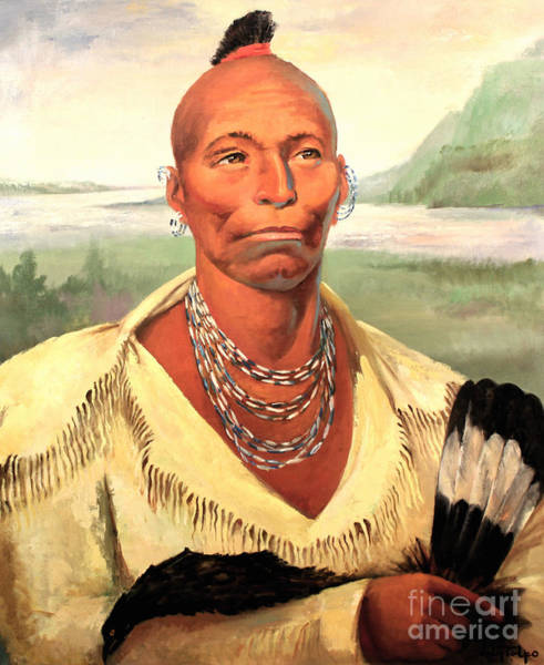 Painting - Chief Black Hawk - Sauk And Fox Tribe  by Art By Tolpo Collection
