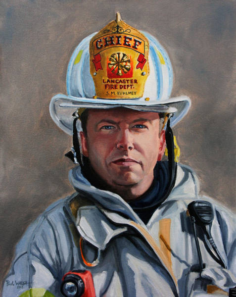 Wall Art - Painting - Chief Kuhlmey by Paul Walsh
