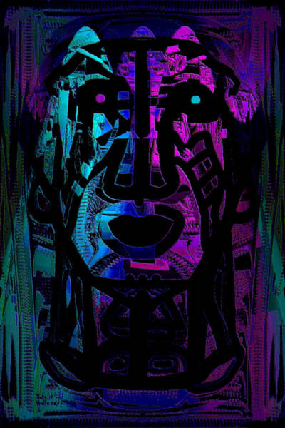 Neon Lights Mixed Media - Chief by Natalie Holland