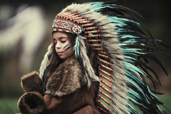 Indian Photograph - Chief Of My Dreams by Carmit Rozenzvig