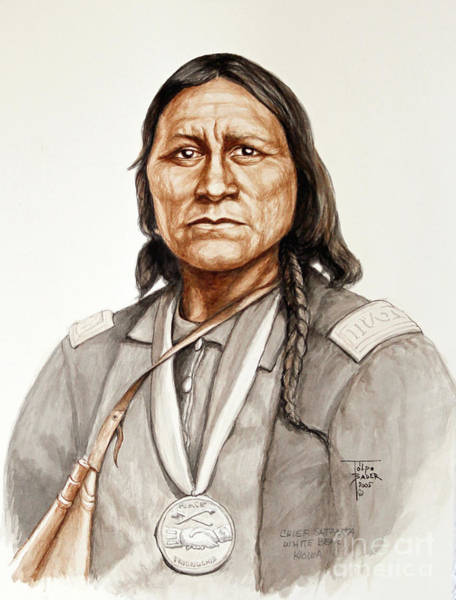 Painting - Chief Satanta by Art By - Ti   Tolpo Bader