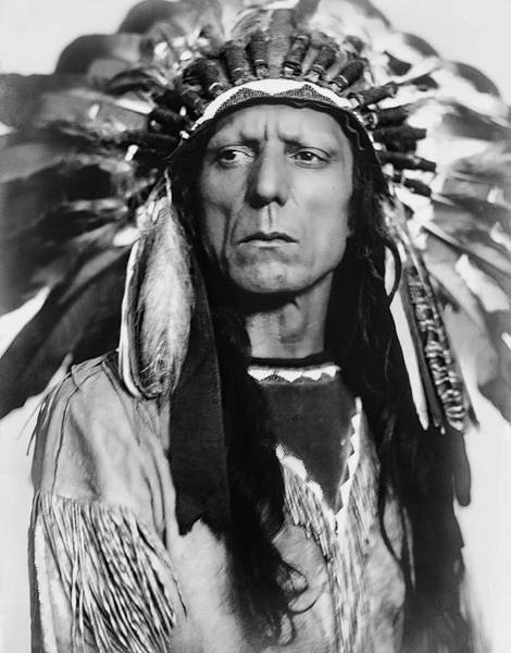 Wall Art - Photograph - Chief War Eagle C. 1909 by Daniel Hagerman