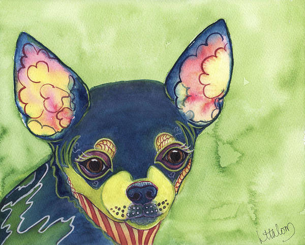Painting - Chihuahua by Greg and Linda Halom