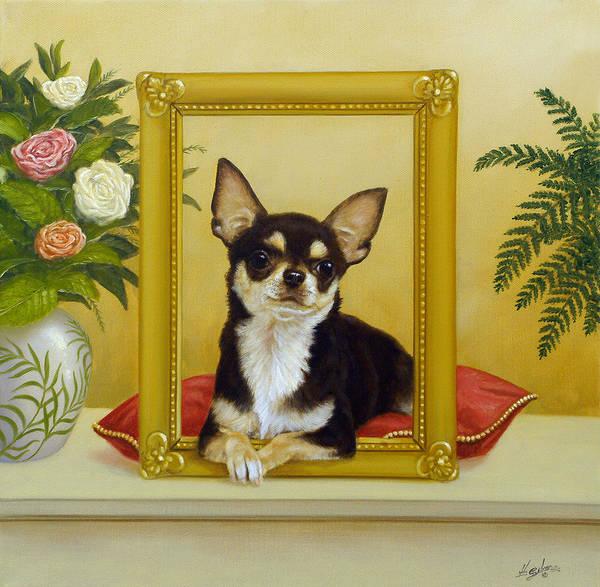 Painting - Chihuahua V - Mona Lisa by John Silver