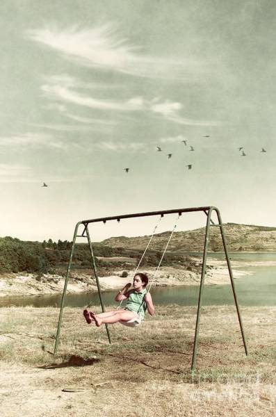 Wall Art - Photograph - Child In A Swing by Carlos Caetano