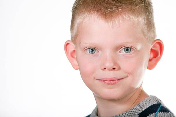 Photograph - Child Portrait by Gunter Nezhoda