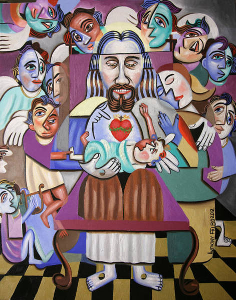 Painting - Childern A Gift From God by Anthony Falbo