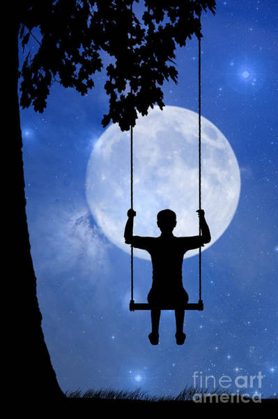 Childhood Digital Art - The Swing by John Edwards