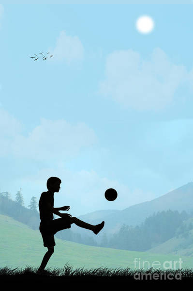 Childhood Digital Art - Football by John Edwards