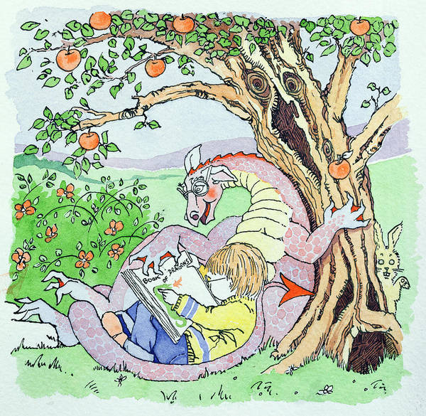 Apple Drawing - Childhood Dreams by Suzanne Bailey