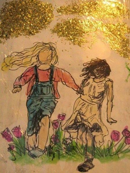 Wall Art - Drawing - Childhood by Lauren  Pecor