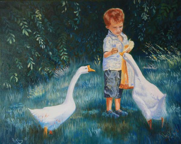 Wall Art - Painting - Childhood Memories by Roena King
