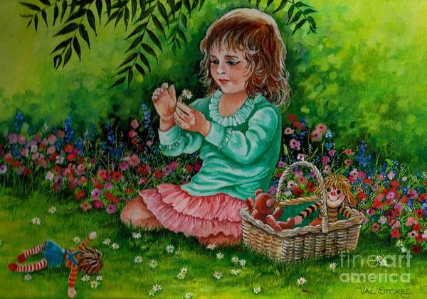 Painting - Childhood Memories by Val Stokes