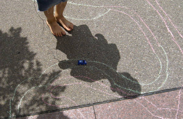 Photograph - Childhood - Shadow Of Playing Boy by Matthias Hauser