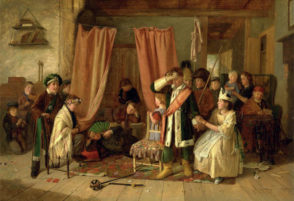 Wall Art - Painting - Children Acting The Play Scene From Hamlet, Act II by Litz Collection