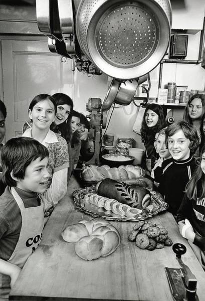 Bread Photograph - Children During Cooking Lesson by Frances McLaughlin-Gill