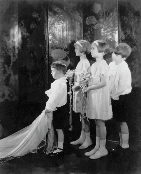 Wedding Bouquet Photograph - Children In A Wedding Procession by Edward Steichen