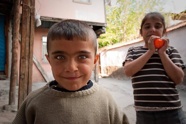 Children In Ankara Art Print by Pedro Nunez
